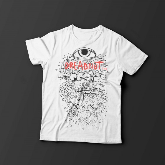 Dreadnut Inc. Shirt SIGNAL - Weiss
